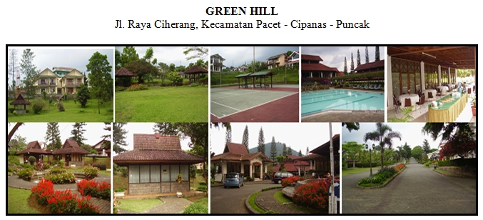 green hill, hotel green hill, green hill puncak, lokasi outbound